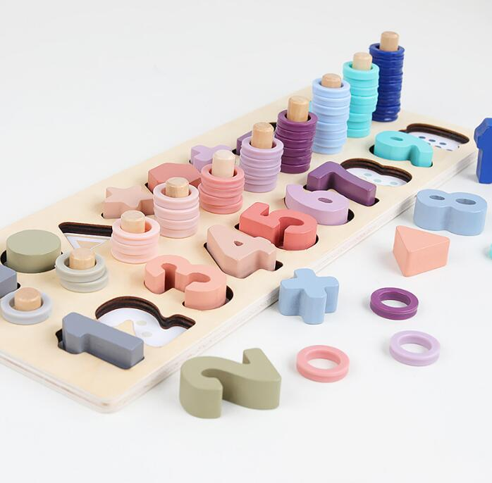 子供用品★知育玩具★おもちゃ・ホビー★積み木 嵌め絵 遊びもの 木製★