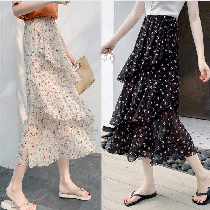 新作  爆買いセール  ハイウエスト スカート 花柄スカート 素敵なデザイン