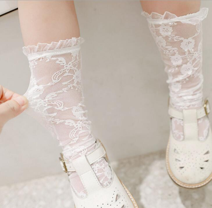 2020新品★子供靴下★キッズ女の子 ★ファッション★レース★ハイソックス★通気性★可愛い