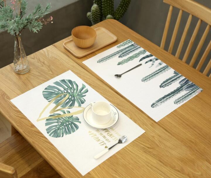 お買い得*コップコースター★コースター★テーブルマッド★滑りにくい PVC断熱素材★観葉植物