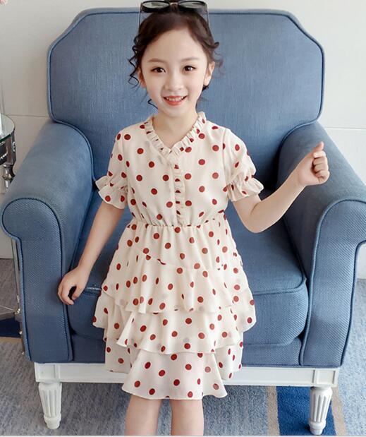 2020★夏新品★水玉★ファッション★ワンピース★スカート★子供★半袖★キッズ服★100-140CM