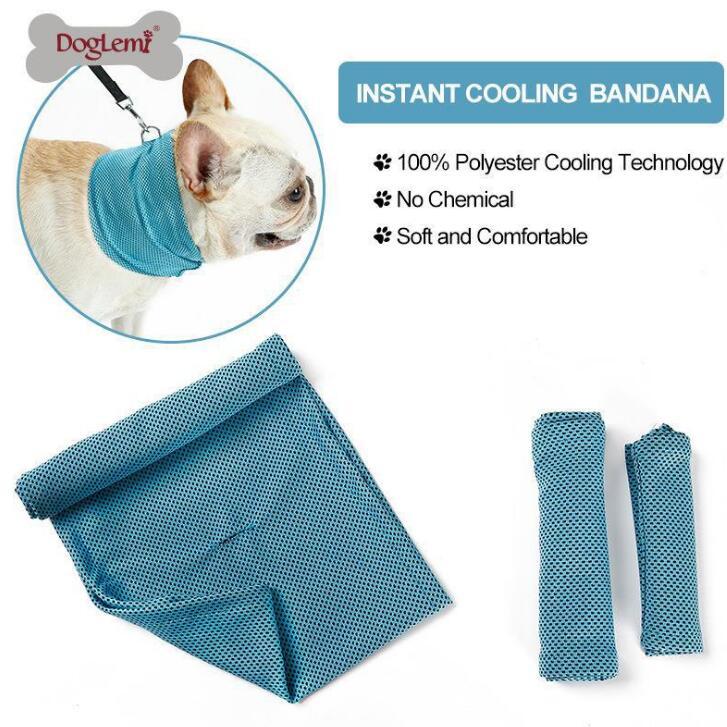 ★熱中症 冷却タオル★物理降温★猫 犬用 冷感タオル ペット用品★紫外線対策/冷感