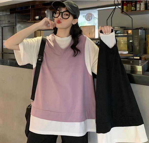 2020★夏新品★おしゃれ★半袖★女の子★Tシャツ★トップス★2色M-XL