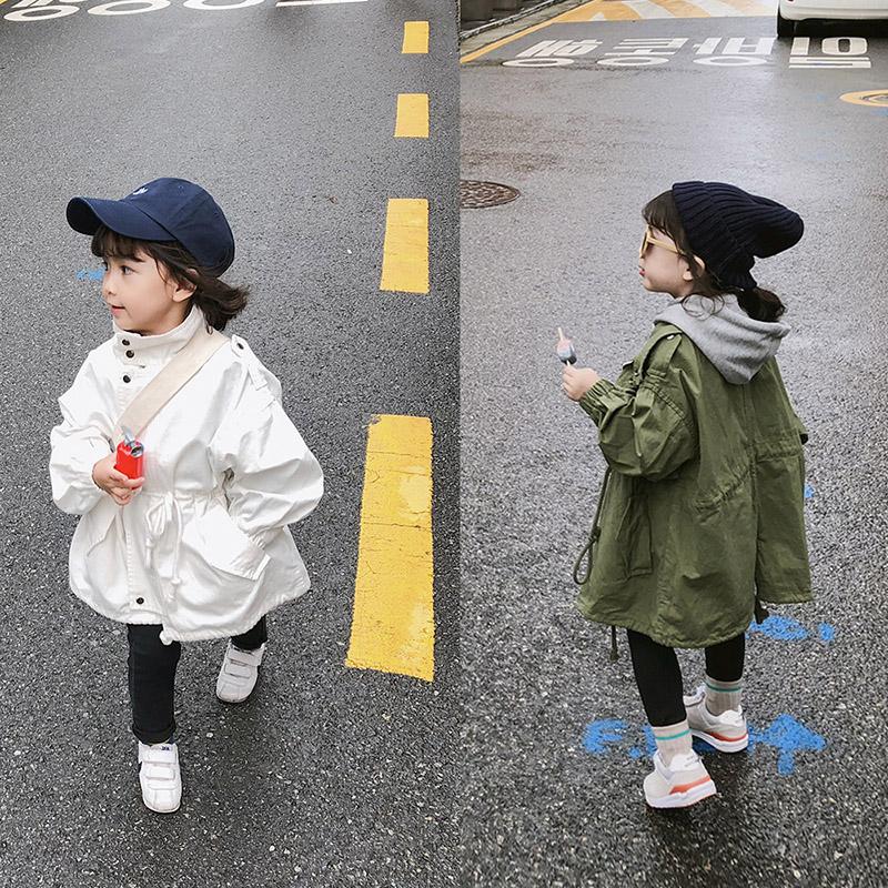 insキッズ秋冬新作 韓国★3-8歳子供服★ロング 綿入れ パーカー フード付コート★ジャケット7-15