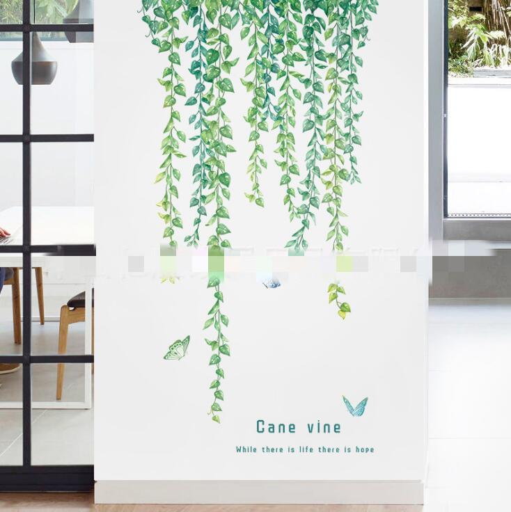 人気商品★DIY壁紙★壁ステッカー★貼り紙★室内装飾★シール式★壁装飾★観葉植物★ 60*90CM