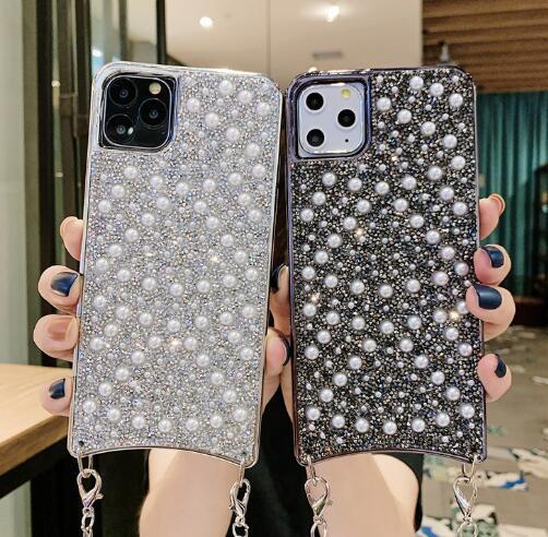 2020年新作★ iPhoneケース★ パールチェーン★iPhone11 11proMAX X/XS ★スマホケース★保護ケース