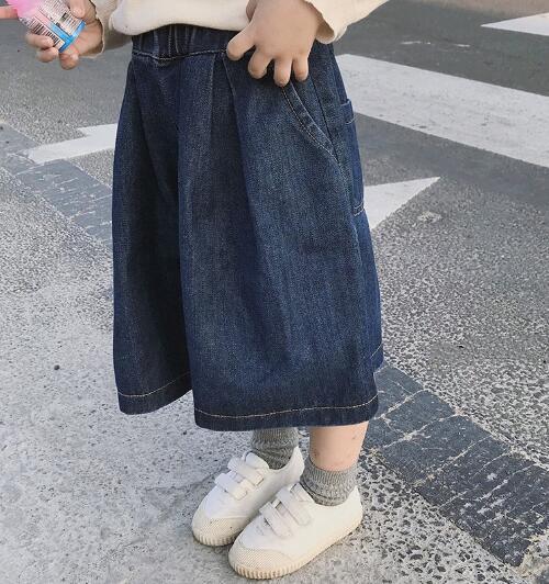 2020新作★ファッション★ワイドパンツ★子供服★ジーンズ★ロングズボン★7-15