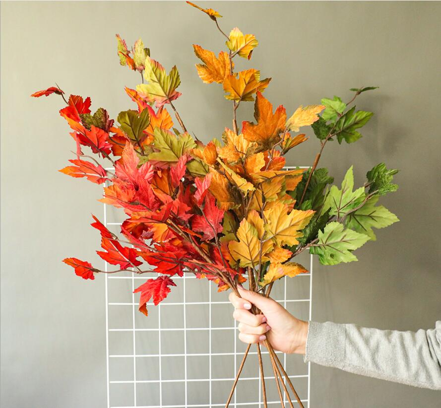 イミテーションフラワー.造花.ビューティ.インテリアアクセサリー.紅葉.楓葉