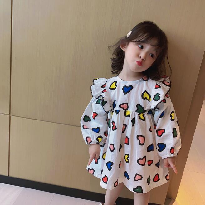 2021年春夏新作★子供服★子供ワンピース★キッズ★韓国子供服★可愛い★女の子★90-130