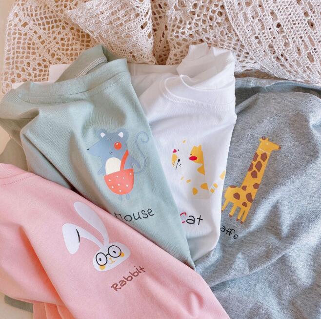 2021夏新作★子供服★子供シャツ★ベビー★tシャツ★キッズ★韓国子供服★女の子★4色80-130