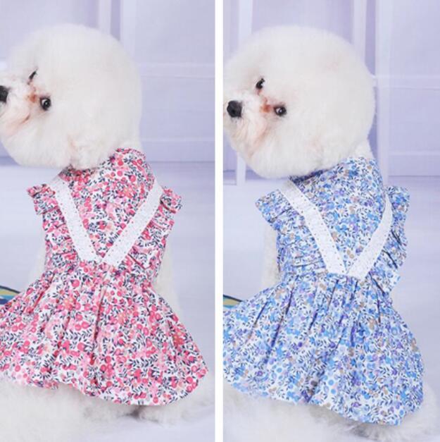 2021夏新品★ワンピース★ペット用品★ペット服★犬服★可愛い★小型犬★花柄★2色★XS-XL